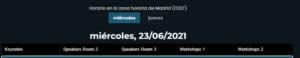 Horario - DevOps Cloud Days Santander